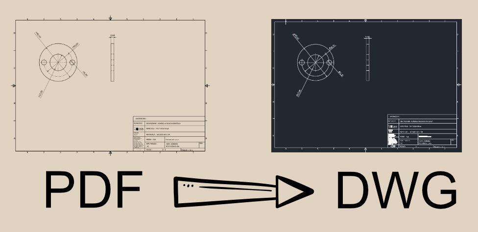 CONVERTIRE PDF IN DWG 1